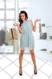 The girl is shopping Royalty Free Stock Photography