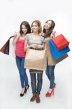 Girl and shopping Royalty Free Stock Photo