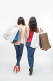 Girl and shopping Royalty Free Stock Photography