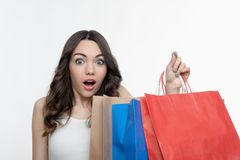 Girl and shopping Royalty Free Stock Images
