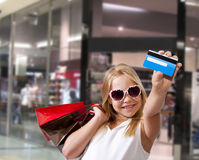 Girl shopping Royalty Free Stock Photo