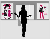 Girl shopping in a mall Royalty Free Stock Photography