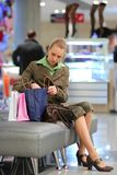 Girl shopping in mall Stock Photo