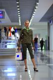 Girl shopping in mall Royalty Free Stock Images