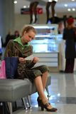 Girl in shopping mall Stock Photo