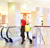 Girl shopping in a mall Stock Image