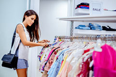 Girl shopping in the mall Royalty Free Stock Image