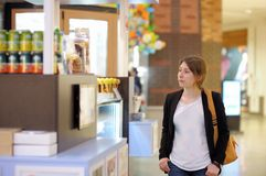 Girl in shopping mall Royalty Free Stock Image