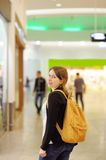 Girl in shopping mall Royalty Free Stock Photo