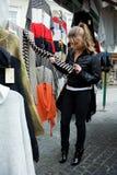 Girl shopping in market Stock Image