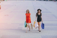 Girl is shopping Stock Photos