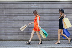 Girl is shopping Royalty Free Stock Images