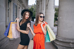 Girl is shopping Stock Image