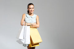 Girl on shopping Royalty Free Stock Image