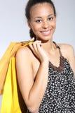 Girl on shopping Stock Photo