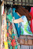 Girl shopping stock image