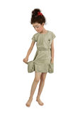 Girl in short dress Royalty Free Stock Photography