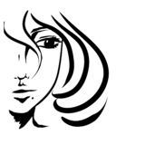 Girl with short hair royalty free illustration