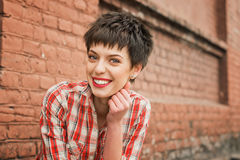Girl with short hair. Stock Photography