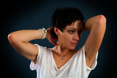 Girl with short hair Royalty Free Stock Photography