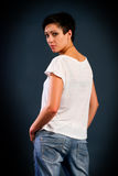 Girl with short hair Royalty Free Stock Image