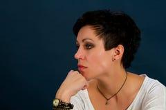Girl with short hair Stock Photos