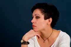 Girl with short hair Stock Photography