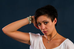Girl with short hair Stock Image