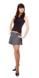 Girl in short skirt Stock Photography