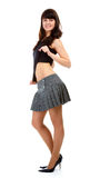 Girl in short skirt Stock Photography