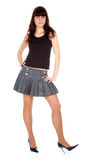 Girl in short skirt Royalty Free Stock Photography
