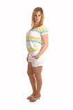 Girl in shorts. stock photo