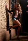 Girl in shorts Royalty Free Stock Photos