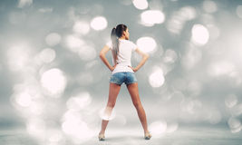 Girl in shorts Stock Photography