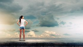 Girl in shorts Royalty Free Stock Photography