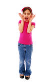 Girl shouting Royalty Free Stock Images