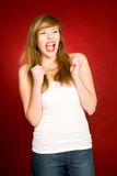 Girl shouting Royalty Free Stock Photos