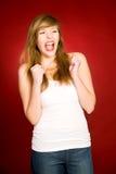 Girl shouting Royalty Free Stock Photos