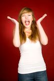 Girl shouting Royalty Free Stock Image