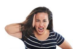 Girl shouting pain Stock Image