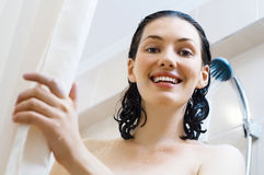 Girl at the shower Royalty Free Stock Photo