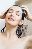 Girl at the shower Royalty Free Stock Image