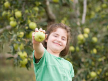 Girl Showing Apple Royalty Free Stock Photo
