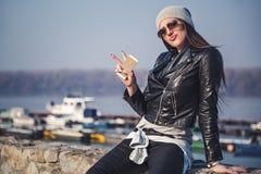 Girl showing attitude Stock Image