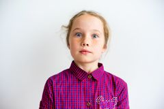 Girl showing emotions. A portrait of a girl showing emotions Royalty Free Stock Image