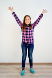 Girl showing emotions. A portrait of a girl showing different emotions royalty free stock photography