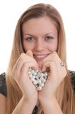 Girl showing heart Stock Photography
