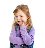Girl showing her teeth Royalty Free Stock Images