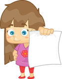 Girl Showing Her Test Paper Result Royalty Free Stock Photos