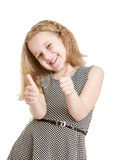 Girl showing sign of ok Royalty Free Stock Images
